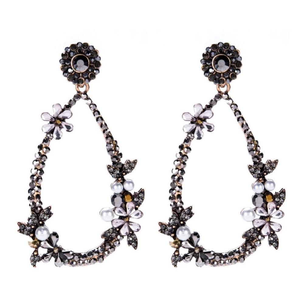 ANNIE Earrings by MAYA - Black