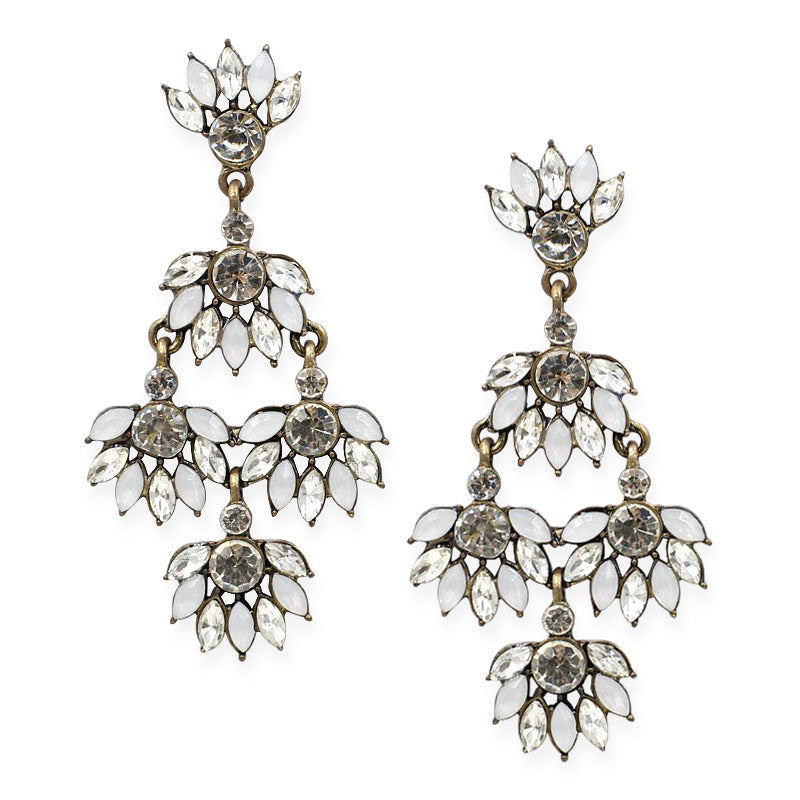 FENDE Earrings by MAYA - White