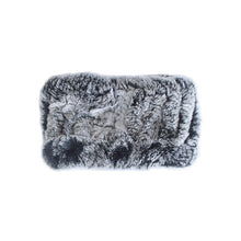 Load image into Gallery viewer, Black & White Rabbit Fur Headband