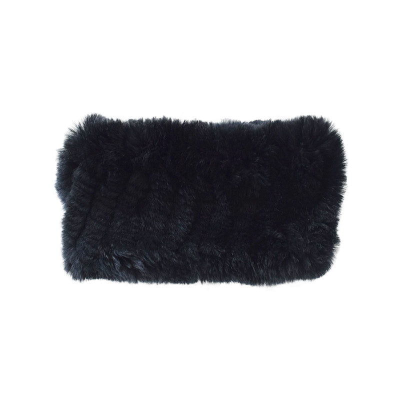 Black Rabbit Fur Headband