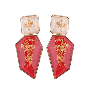 Imala Earrings by MAYA - Red & Clear