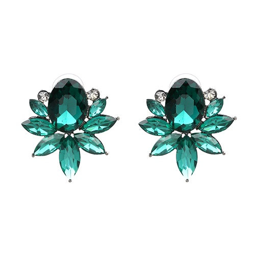 JUNY Earrings by MAYA - Emerald