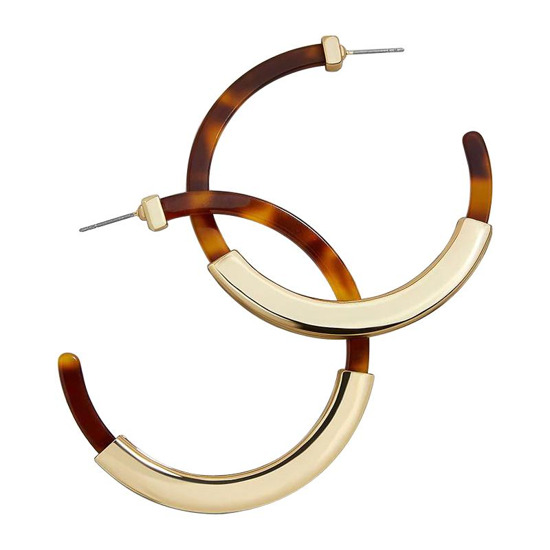 JUPITOR Earrings by MAYA - Tortoise & Gold
