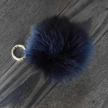 Black Fox Fur Key Ring