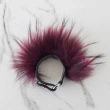 Load image into Gallery viewer, Mulberry Raccoon Fur Cuff
