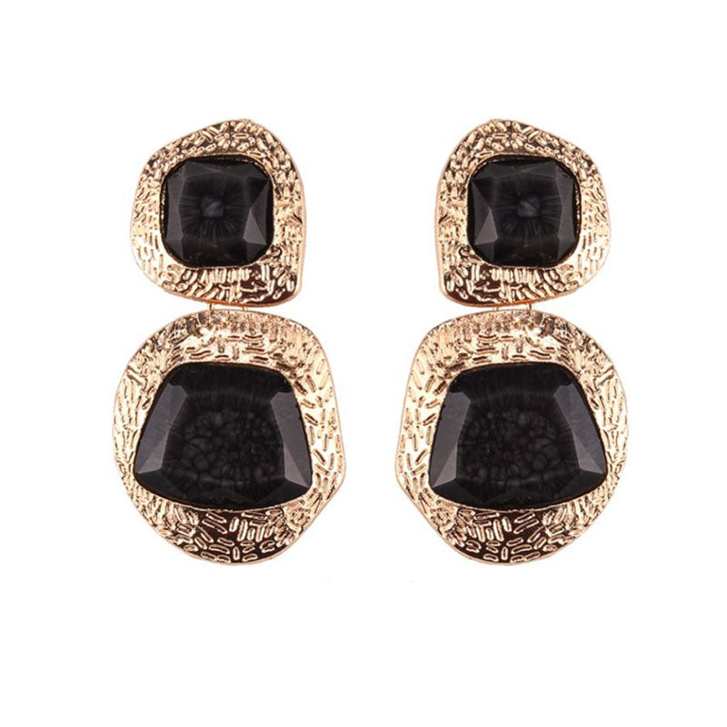 Queenz Earrings by MAYA - Black