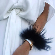 Black Raccoon Fur Cuff