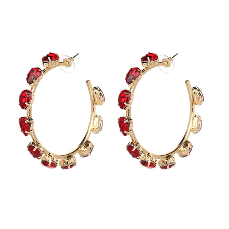 RUBY Earrings by MAYA - Red