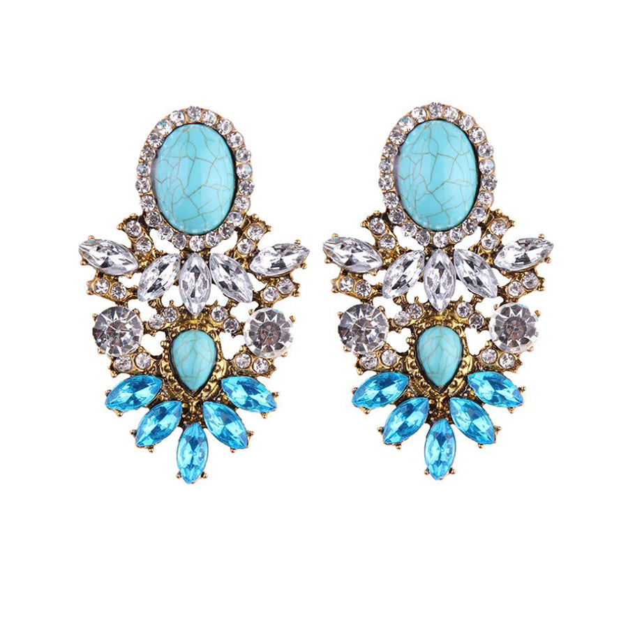 SAMAR Earrings by MAYA - Aqua