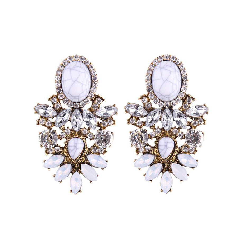 SAMAR Earrings by MAYA - White