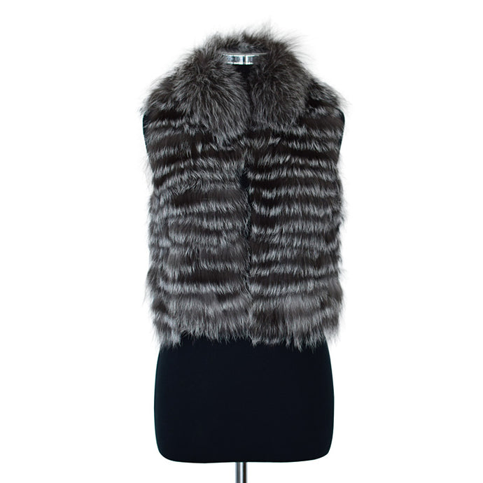 Natural TROYAN Raccoon Fur Vest