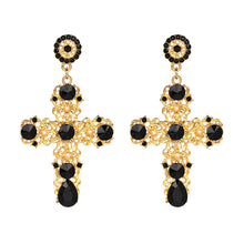 TINA Earrings by MAYA - Gold & Black