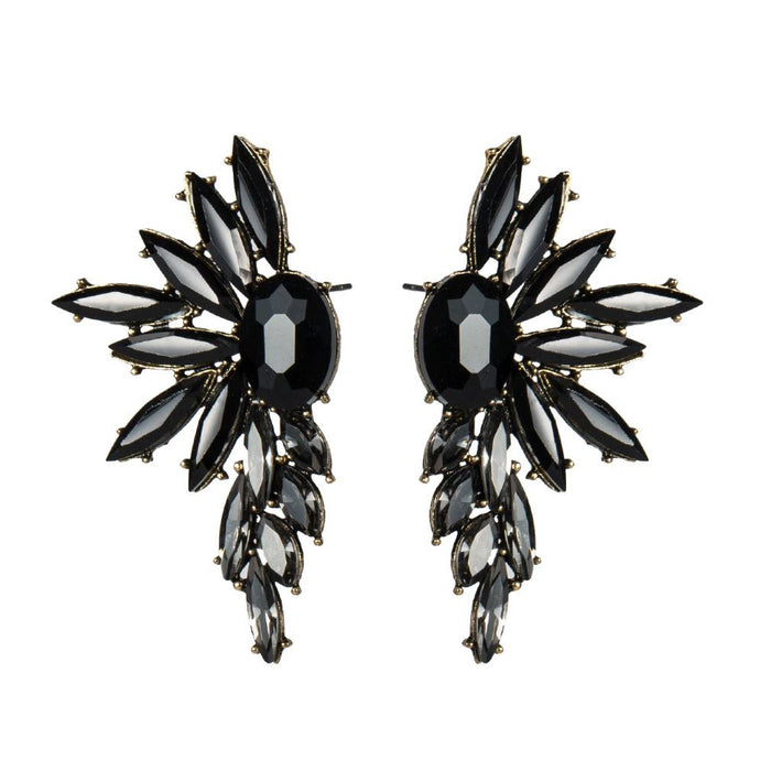 WILLIAN Earrings by MAYA - Black