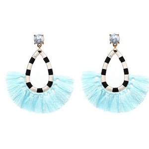 ZOE Earrings by MAYA - Aqua