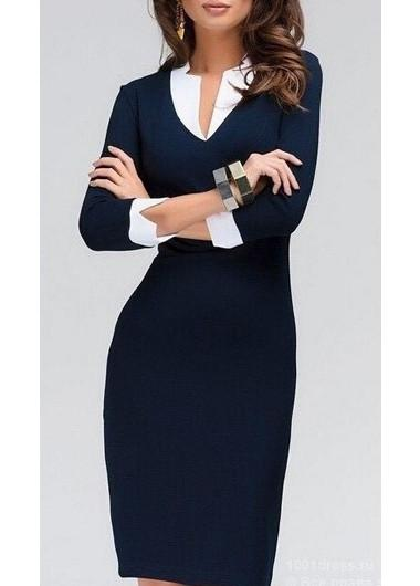Cubic - Blue Pencil Dress