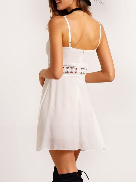 Ivory - Vintage Backless Dress