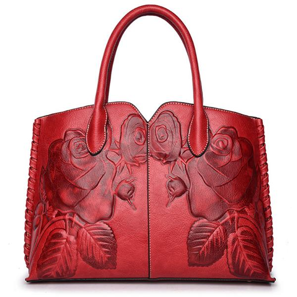 Embossed Luxury Handbag