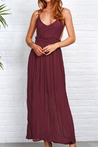 Princess Lace Maxi Dress