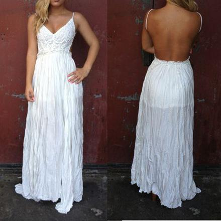 Grace - Lace Maxi Chiffon Dress