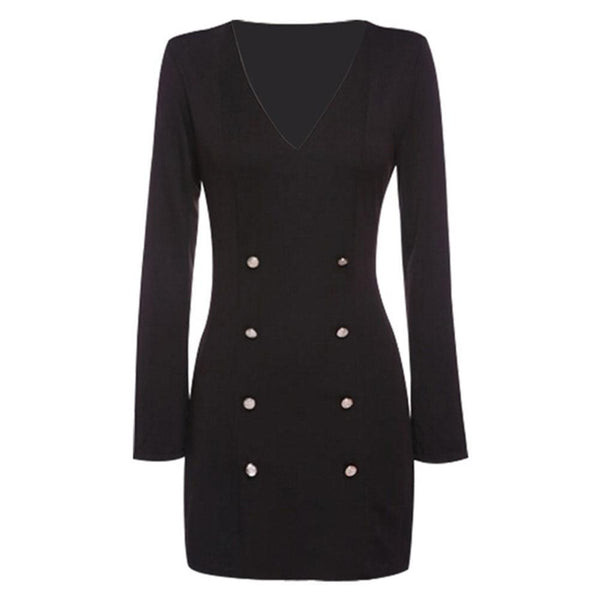 Tyne - Slim Fit Double Breasted Trench Dress
