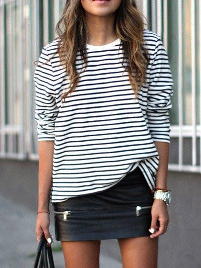 Marie - Classic Striped Blouse