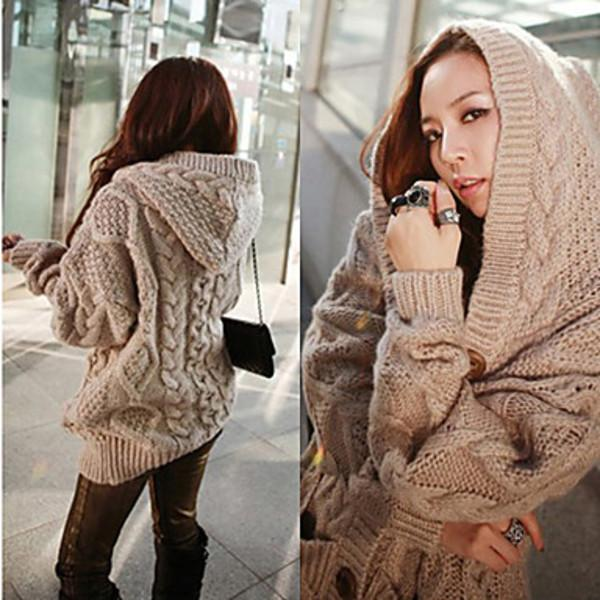 Crista - Hooded Knitted Cardigan