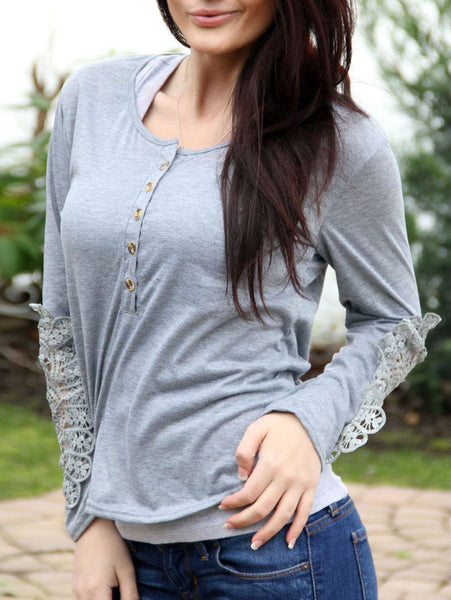 Marta - Lace Sleeve Shirt