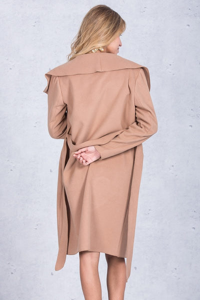 Fern - Ruffle Turndown Collar Coat