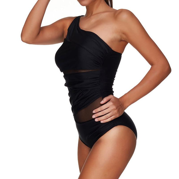 Thea - One Shoulder Mesh Monokini