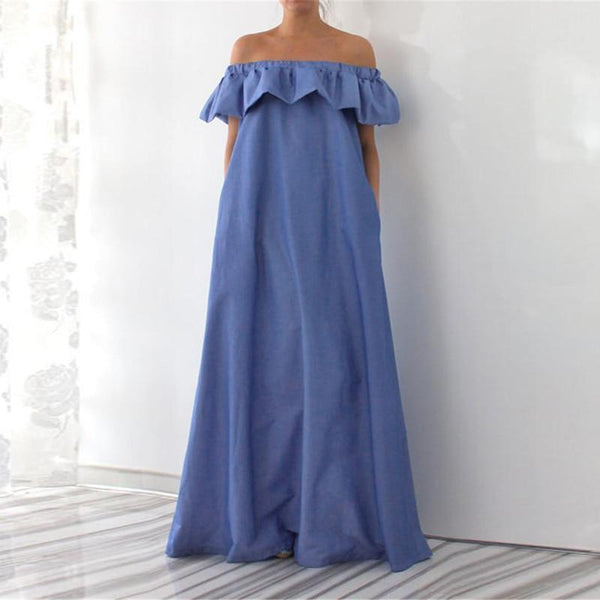 Leia - Off Shoulder Ruffle Maxi Dress