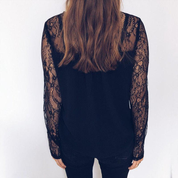 Elsie - Lace Detail Blouse