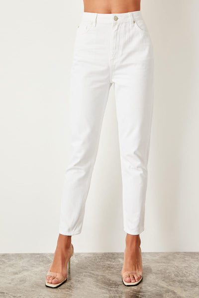 Cosimia - High Waist Pencil Leg Jeans