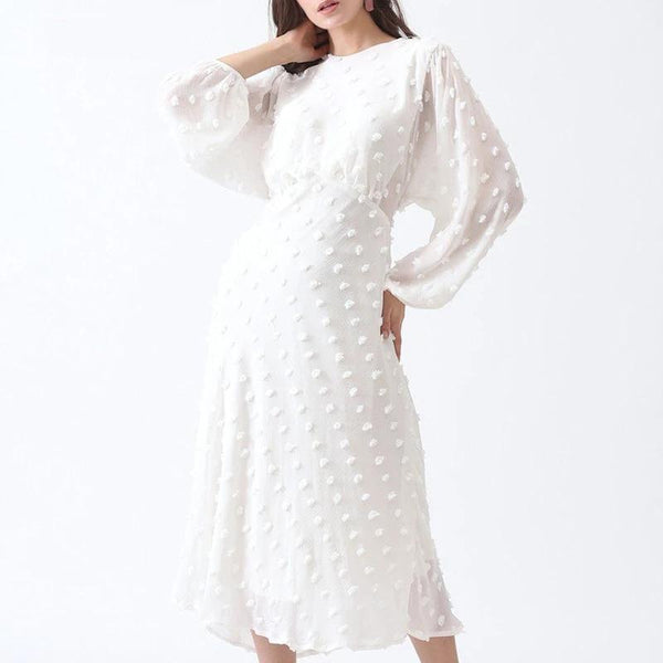 Emmy - Long Sleeve Chiffon Dress