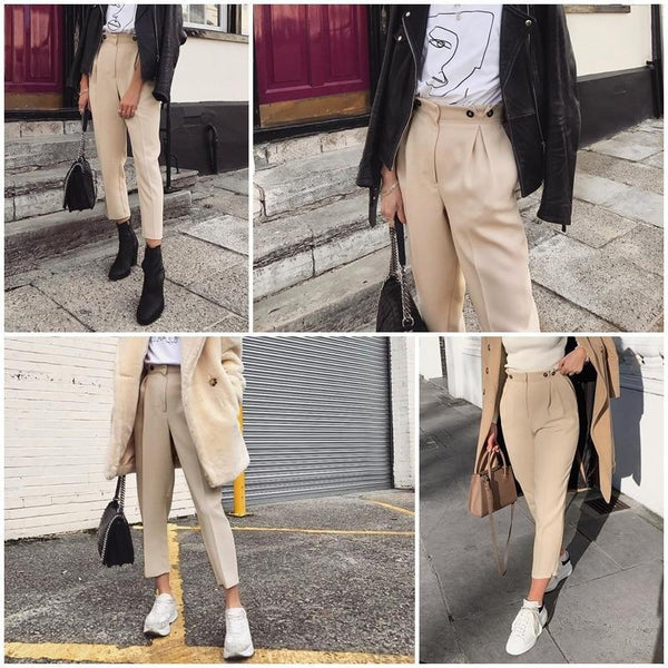 Hadley - High Waist Trousers