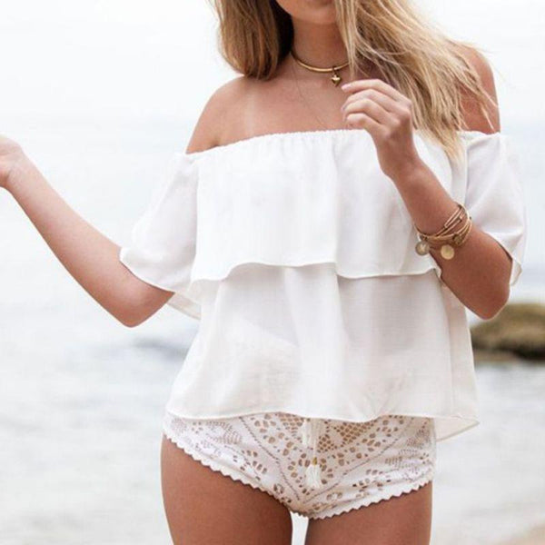 Off Shoulder Boat Neck Top