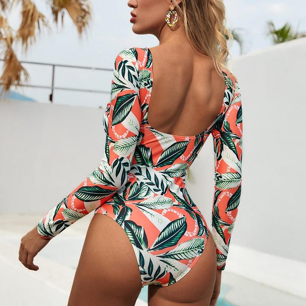 Lua - Long Sleeve Low Back Monokini