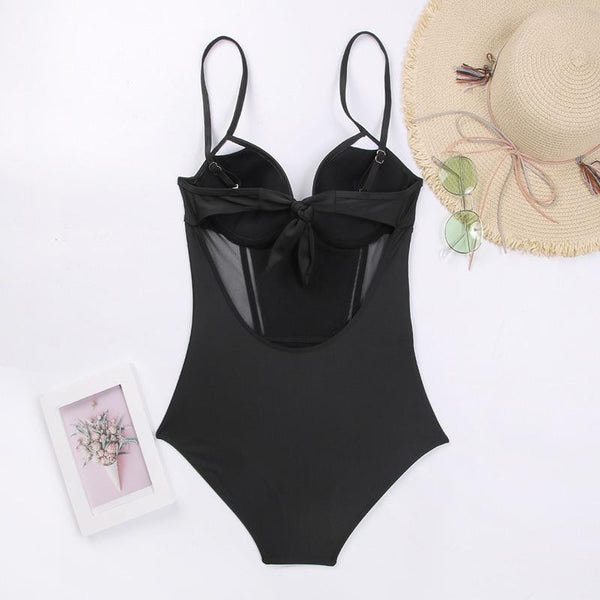 Zanda - Push-Up Tie Back Monokini