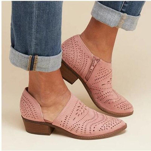 Arra - Square Heel Ankle Boots