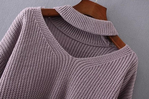 Chunky Knit Cut-Out Sweater