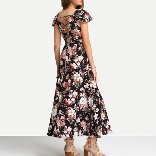 Fifty - The Floral Short-Sleeve Dress