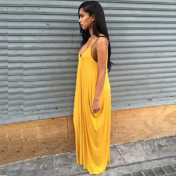Custard - Vintage Lemon Floor-Length Dress