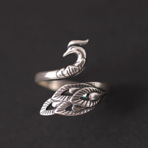 Peacock Patronus Ring - Sterling Silver
