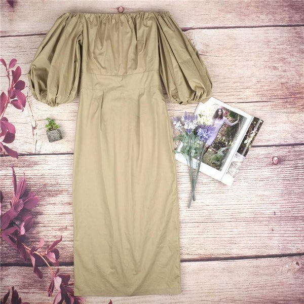 Praad - Loose Sleeve Vintage Dress