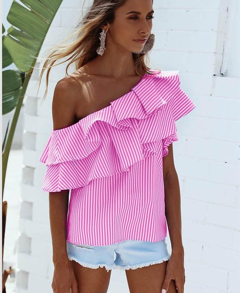 Iva - Ruffle Off-Shoulder Blouse