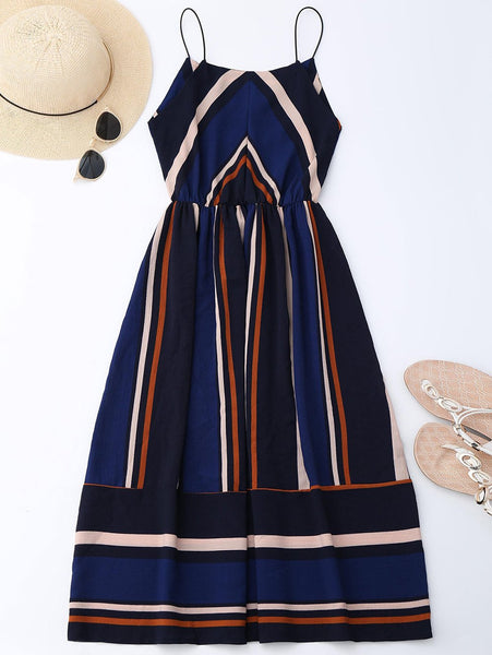 Azul Striped Midi Dress