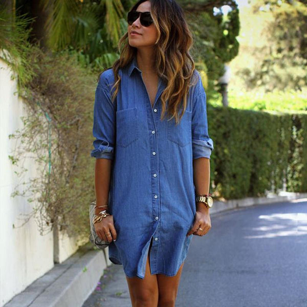 Rosa - Casual Denim Dress