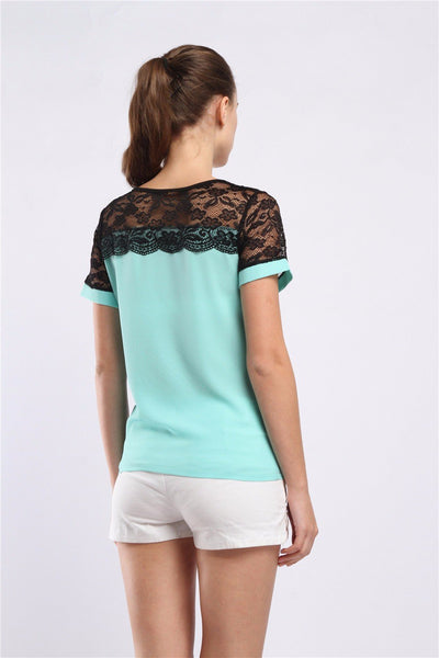 Selma - Milanese Lace Top