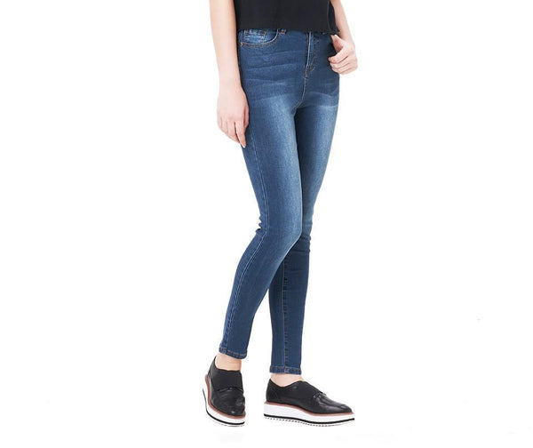 Casual High Waist Elastic Denim Jeans