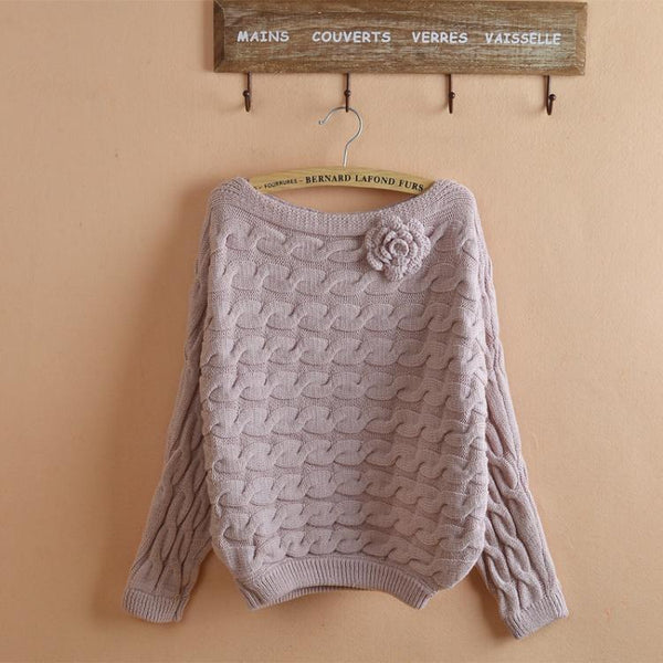 Rose Knit Sweater Top