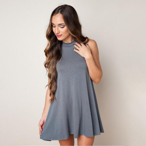Lima - O-Neck Ruffle Dress